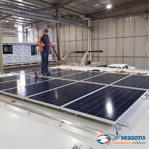 Solar powered installation at All Seasons Houseboats