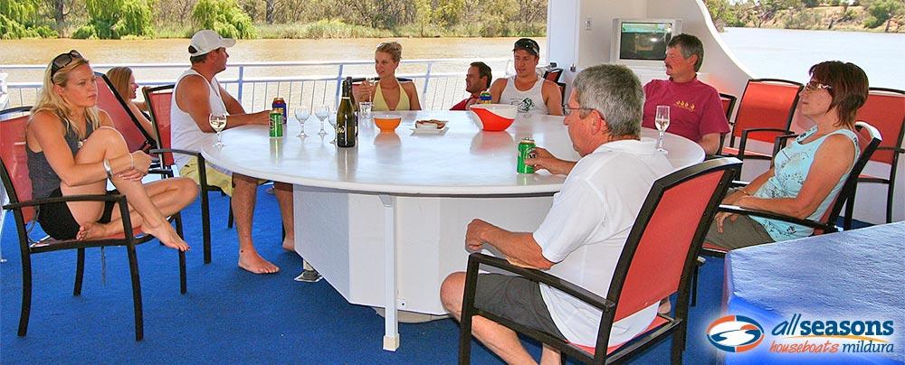 Relaxing on All Seasons Houseboats Mildura