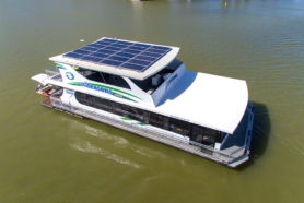 Ruby Luxury Houseboat aerial - All Seasons Houseboats Mildura