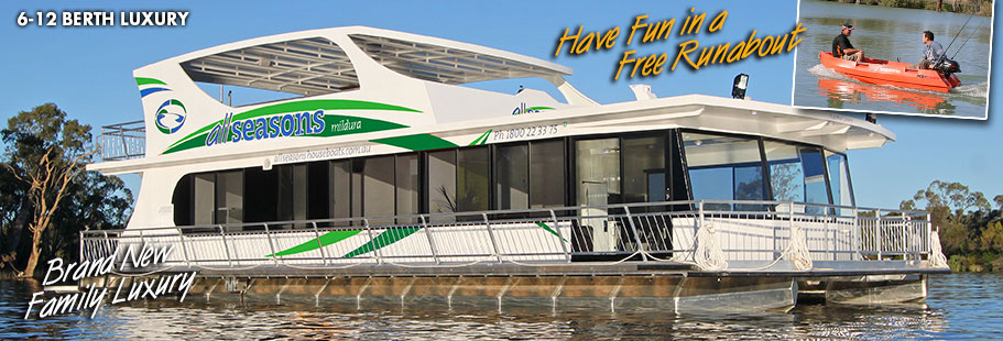 Ruby Luxury - All Seasons Houseboats Mildura