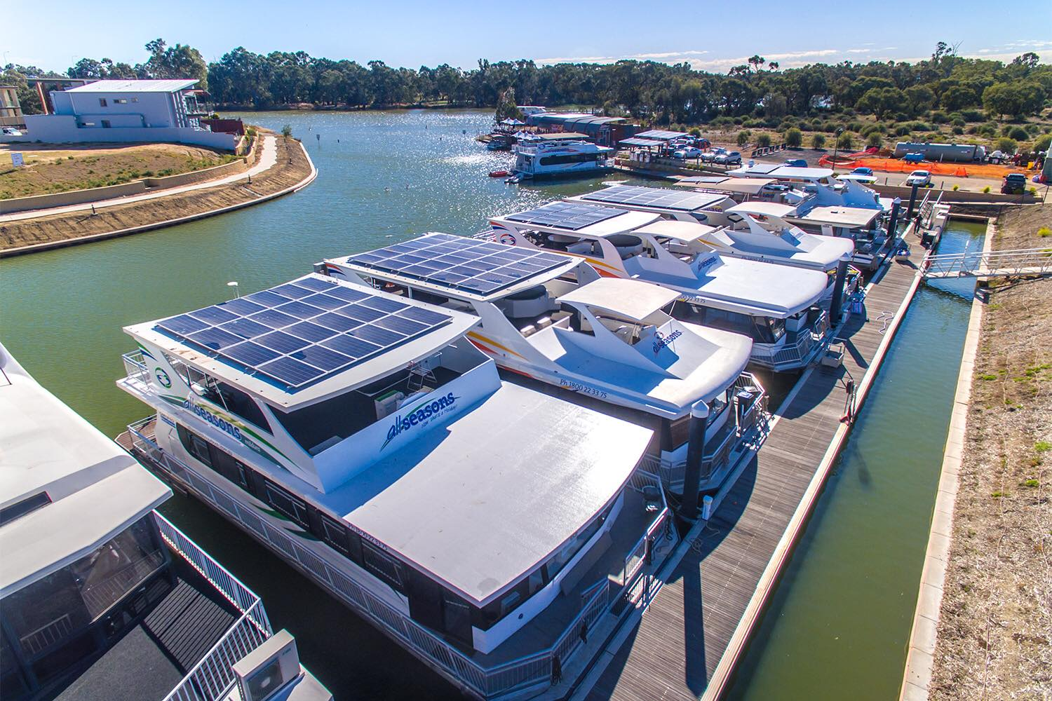 All Seasons Houseboats Mildura Solar Fleet