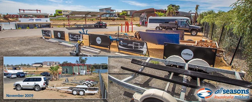 Secure Mildura Marina for trailer parking - All Seasons Houseboats Mildura